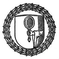 the Speculum logo (a hand holding a hand mirror within a shield within a wreathed circle)